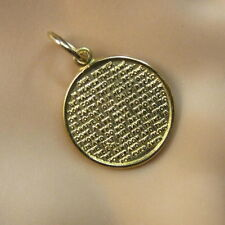 18ct gold new  lords prayer disc