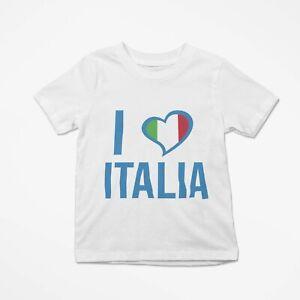 T-Shirt Simpatica Bambino Europei 2021 Maglia Bimbo Stampata Love Italia