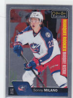16/17 PLATINUM..SONNY MILANO..MARQUEE ROOKIES..# 182..BLUE JACKETS.COMBINED SHIP