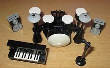 Lego City - Friends - Set Musik - 1x Klavier-1x Schlagzeug- Boxen mit Mikrofon