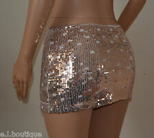 VICKY MARTIN copper gold sequin stretch mini skirt BNWT 8 10 RRP £115 PARTY club