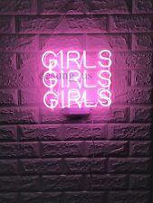 """New Girls Girls Girls Bulb Gift Lamp Room Love Acrylic Light Neon Sign 13""""x11"""""""