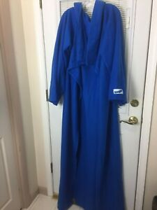 "Blue Fleece Genuine Adult Snuggie Blanket with Sleeves Size 71"" x 54"" RN# 114623"