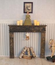 Manteau de cheminée déco cheminée console Cheminée de bois vintage