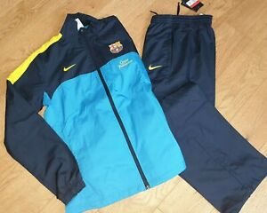 Nike Womens Barcelona Tracksuit FCB UK Large Jacket Open Hem Pants Stay Warm (A5
