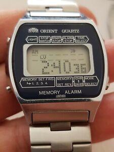 orologio vintage orient alarm memory chronograph funzionante  ottimo stato