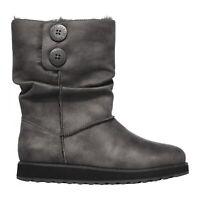 Skechers KEEPSAKES 2.0 UPLAND Ladies Winter Comfort Warm Mid Calf Boots Charcoal