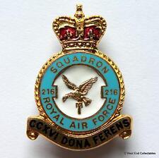 1950s RAF 216 Squadron MILLER Brooch Badge - Royal Air Force Lyneham Fayid