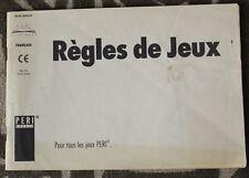 1994 ✤ Règles de JEUX ✤ Pour tous les jeux PERI