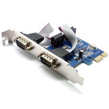 PCI-E RS232 Express Karte 2x Seriell DB9 Karte Erweiterungskarte Adapter