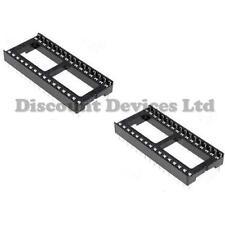 "2x 32 Pin RoHS PCB IC Socket DIL/DIP 32 0.6"""