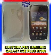 Pellicola+Custodia cover case WAVE CLEAR per Samsung Galaxy Ace plus S7500 (H8)