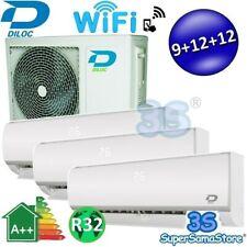 3S CLIMATISEUR TRI-SPLIT DILOC R32 2,5+3,2+3,2 Kw SMART WIFI INVERTER REVERSIBLE