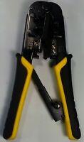 Klein Ratcheting Crimper Stripper Cutter - RJ-45 Twisted Pair - Model VDV226-011