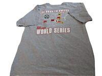 Road to Omaha 2019 College World Series men's Sz L  t-shirt Vanderbilt Michigan