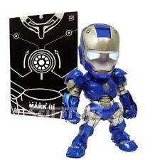 BLUE SD mini Avengers Ironman Deformed Iron man w Light up eyes & sound sensor