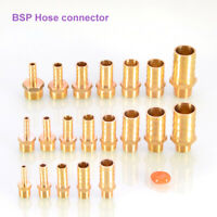 Brass Hose tail Fitting 3//8 BSP tapered Thread X Tail Connector barb Fuel Pipe