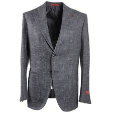 NWT $3390 ISAIA Gray Soft-Woven Donegal Silk-Wool-Cashmere Sport Coat 38 R