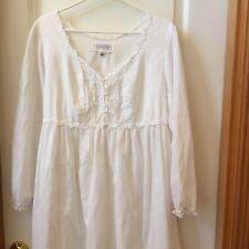 Victorias Secret VS Nightgown Cotton Lace White Lightweight Romantic