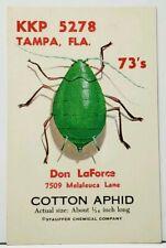 Qsl Tampa Fl Kkp-5278 Cb Radio LaForce Staffer Chem. Cotton Aphid Postcard I19