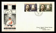 DR WHO 1968 VIRGIN ISLANDS MARTIN LUTHER KING JR. FDC C175499