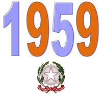 ITALIA Repubblica 1959 Singolo Annata Completa integri MNH ** Tutte le emissioni