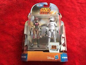 """Star Wars Figuren Rebels """"Stormtrooper + Sabine Wren"""" unbespielt ovp"""