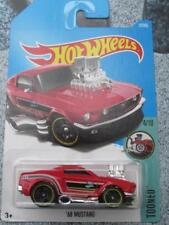 Hot Wheels 2017 # 027/365 1968 Ford Mustang rosso Tooned NUOVO CASTING lungo