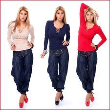 Feine taillenlange Damen-Pullover mit U-Ausschnitt
