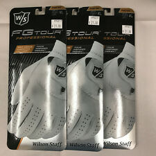 Wilson FG TOUR Leather Gloves for Men Left Hand White LOT OF 3 C/XL