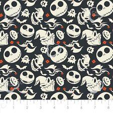 Springs Creative Fabric Nightmare Before Christmas Jack And Friends Grey HALF ME