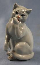 Katze Katzenfigur Porzellanfigur ens  Porzellankatze porzellan grau