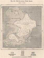 Neu-Lauenburg (Duke Of York) Islands. Papua New Guinea. Melanesia 1885 old map
