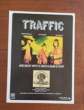 """Original 1970 11""""x15"""" Traffic Steve Winwood/Jim Capaldi Poster ad"""