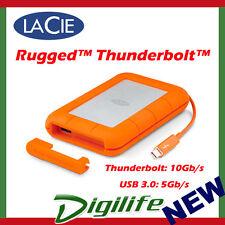 "LaCie 1TB Rugged Thunderbolt USB 3.0 2.5"" Portable Mobile Hard Drive STEV1000400"