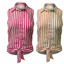 Unbranded Chiffon Striped Classic Tops & Shirts for Women