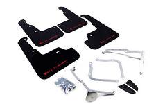 Rally Armor Mud Flaps (Black With Red Logo) For 15-18 Subaru WRX & STI