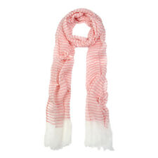 Pure Cotton Lightweight Narrow Striped Fashion Scarf - Different Colors