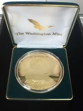 2000 Giant Sacagawea Silver 4oz .999 Fine Silver Round with 24Kt Gold
