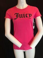 """BNWT JUICY COUTURE Ladies Pass Pink """"Juicy"""" T-Shirt Sz S (see below) Half Price"""