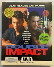 NEW DOUBLE IMPACT SPECIAL COLLECTORS EDITION BLU RAY + RARE OOP SLIPCOVER MVD