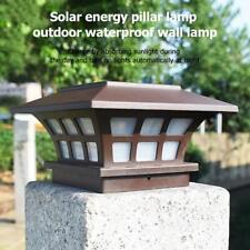 Solar LED Pillar Lamp Waterproof Intelligent Light Control for Garden Yard Decor