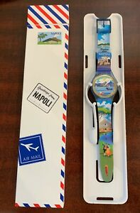 """DESTINATION SWATCH Greetings from NAPOLI Italy in Box SUOZ325 """"LIMITED"""""""