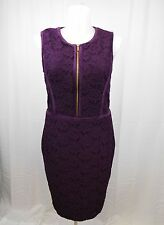 Calvin Klein Plus Sleeveless Floral Lace Sheath Dress Size 16 Aubergine #4860