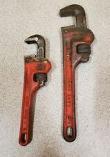 Used lot of 2 RIDGID Pipe Wrenches,6