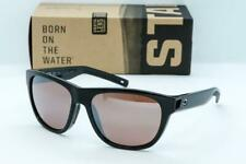 COSTA DEL MAR BAYSIDE Sunglasses Black / Copper-Silver Mirror 580P lens Womens