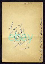 BOBBY DARIN Original Signed Album Page 1962 + James MacArthur 1961 Autograph