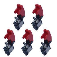 5 X KFZ Auto Boot rote Abdeckung Wippschalter Kippschalter EIN/AUS Schalter