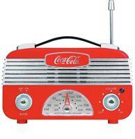 Coca Cola Retro Desktop Vintage Style AM/FM Battery Operated Radio