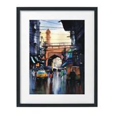 Watercolor Painting Print Landscape, Cityscape Lahore Pakistan Sarfraz Musawir